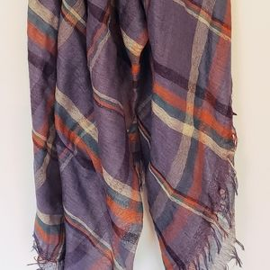 Lightweight Scarf - Blue Plaid